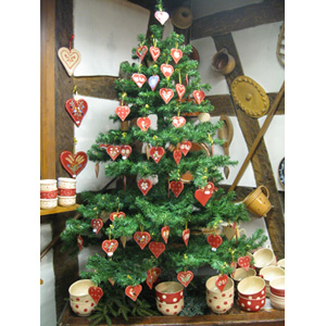 Potteries decorations poterie lehmann soufflenheim for Decoration sapin de noel americain