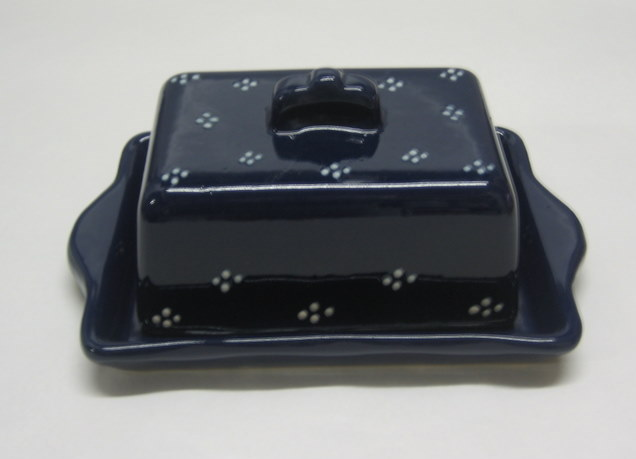 Butter dish blue points