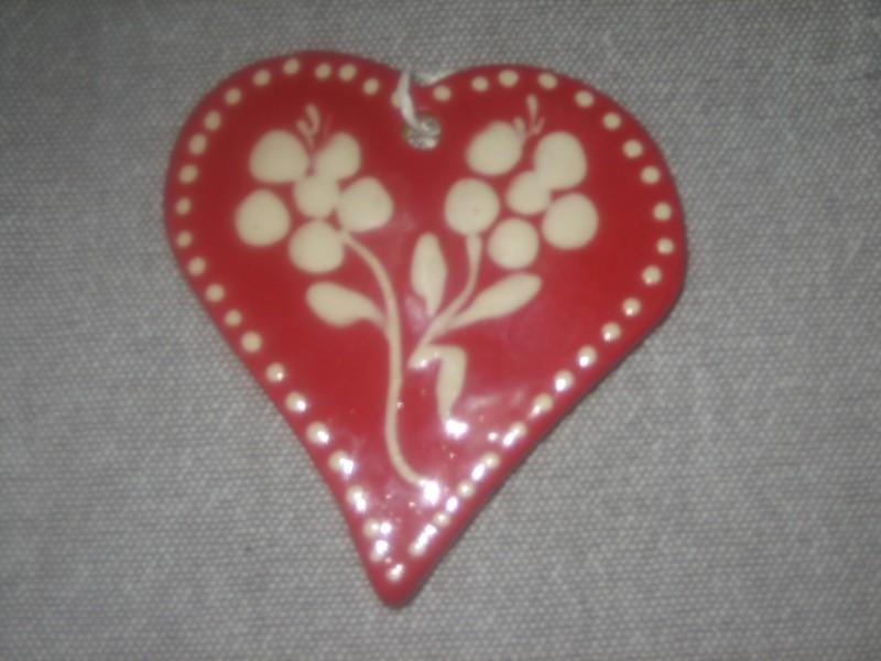Dcorations boutique en ligne de poteries poterie lehmann soufflenheim - Coeur avec des fleurs ...